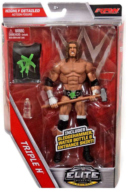 WWE Wrestling Elite Collection Flashback Triple H Exclusive Action Figure [Sledgehammer, Water Bottle & DX Entrance Shirt]