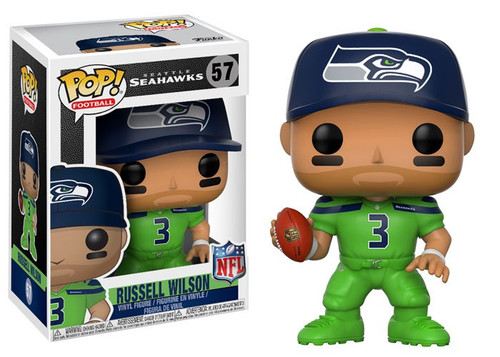 Funko NFL Seattle Seahawks POP! Sports Football Russell Wilson Vinyl Figure [Green Color Rush Uniform]