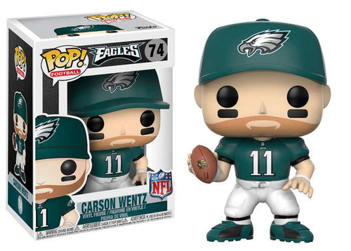 Funko NFL Philadelphia Eagles POP! Sports Football Carson Wentz Vinyl Figure #74 [Green Jersey]