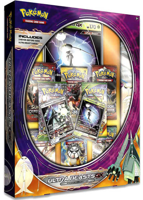 Pokemon Trading Card Game Sun & Moon Ultra Beasts GX (Pheromosa & Celesteela) Premium Collection [8 Booster Packs, 2 Foil Promos, Oversize Promo, Playmat & Coin]