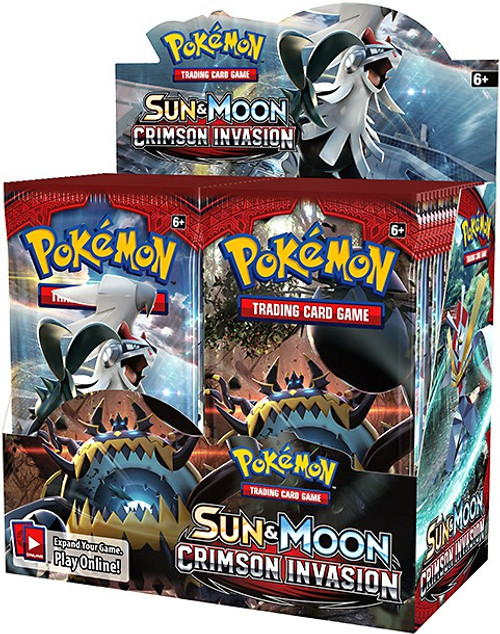 Pokemon Trading Card Game Sun & Moon Crimson Invasion Booster Box [36 Packs]