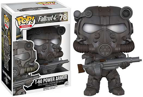 Funko Fallout 4 POP! Games T-60 Power Armor Vinyl Figure #78 [Grey, Damaged Package]