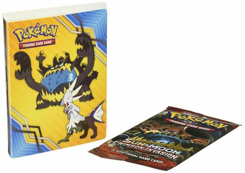 Ultra Pro Pokemon Trading Card Game Sun & Moon Crimson Invasion Mini Portfolio [Includes Booster Pack, Holds 60 Cards]