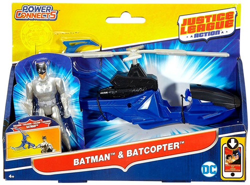 Justice League Action JLA Batman & Batcopter 4.5-Inch Figure & Vehicle