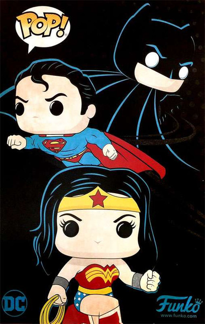 Funko DC Batman, Superman & Wonder Woman Exclusive Poster