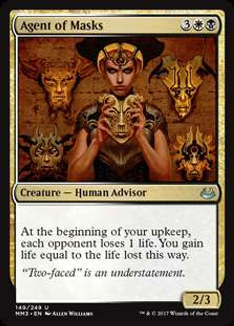 MtG Modern Masters 2017 Edition Uncommon Foil Agent of Masks #149