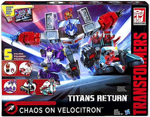 Transformers Generations Titans Return Chaos on Velocitron Exclusive Action Figure 5-Pack