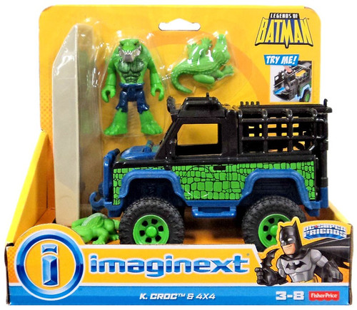 Fisher Price DC Super Friends Imaginext K. Croc & 4x4 3-Inch Figure Set