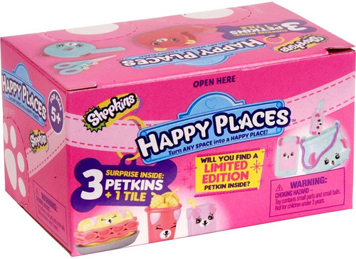 Shopkins Happy Places Series 3 Petkins Surprise Delivery Mystery Pack [3 Petkins & 1 Tile]