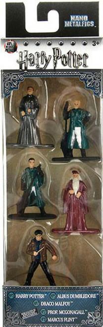 Nano Metalfigs Harry Potter, Albus Dumbledore, Draco Malfoy, Prof. McGonagall & Marcus Flint 1.5-Inch Diecast Figure 5-Pack