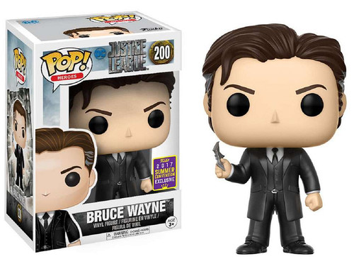 Funko Justice League POP! Heroes Bruce Wayne Exclusive Vinyl Figure #200 [SDCC 2017 Exclusive, Damaged Package]