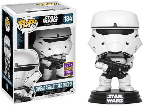Funko Rogue One POP! Star Wars Combat Assault Tank Trooper Exclusive Vinyl Bobble Head #184