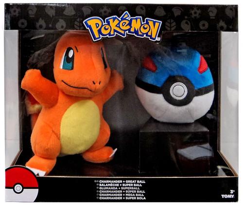 Pokemon Charmander & Great Ball 7-Inch Plush