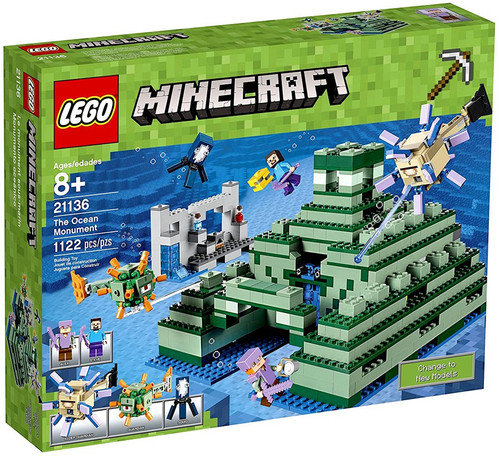 LEGO Minecraft The Ocean Monument Set #21136