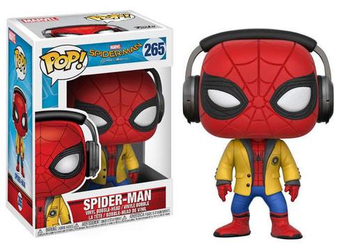 Funko Spider-Man: Homecoming POP! Marvel Spider-Man Vinyl Bobble Head #224 [Yellow School Jacket & Headphones]