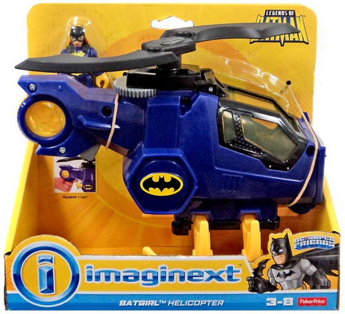 Fisher Price DC Super Friends Imaginext Batgirl & Helicopter 3-Inch Figure Set