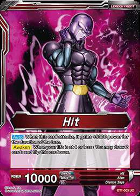 Dragon Ball Super Collectible Card Game Galactic Battle Uncommon Hit BT1-003