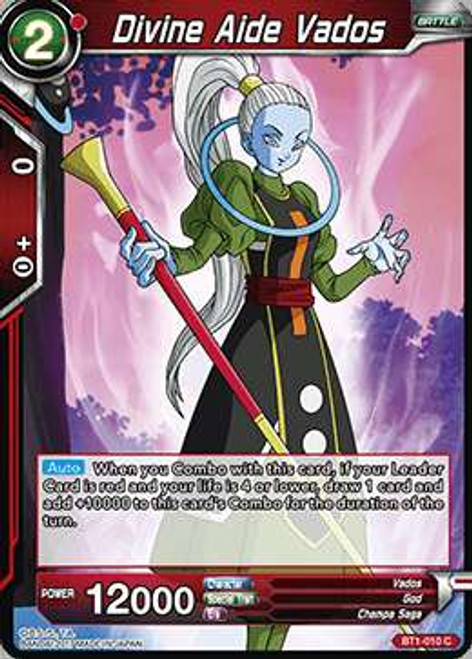 Dragon Ball Super Collectible Card Game Galactic Battle Common Divine Aide Vados BT1-010