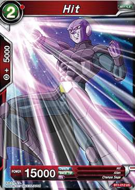 Dragon Ball Super Collectible Card Game Galactic Battle Uncommon Hit BT1-012