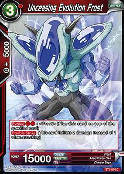 Dragon Ball Super Collectible Card Game Galactic Battle Common Unceasing Evolution Frost BT1-016
