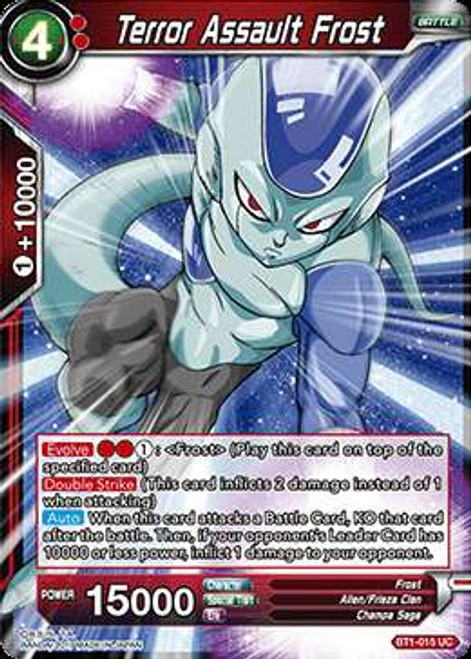 Dragon Ball Super Collectible Card Game Galactic Battle Uncommon Terror Assault Frost BT1-015