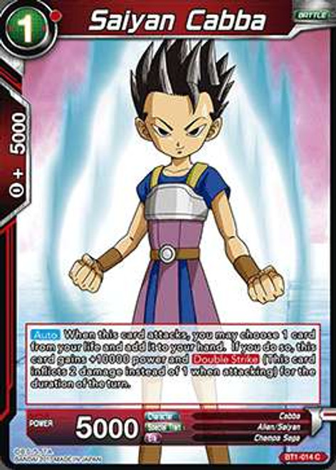 Dragon Ball Super Collectible Card Game Galactic Battle Common Saiyan Cabba BT1-014