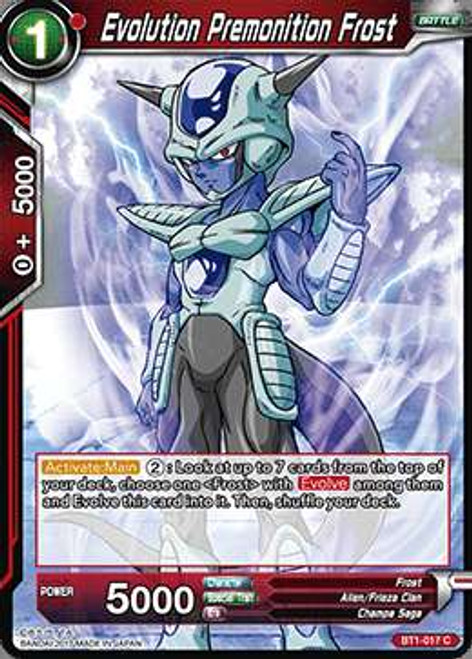 Dragon Ball Super Collectible Card Game Galactic Battle Common Evolution Premonition Frost BT1-017