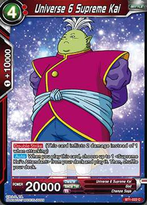 Dragon Ball Super Collectible Card Game Galactic Battle Common Universe 6 Supreme Kai BT1-022