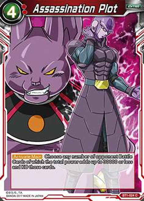 Dragon Ball Super Collectible Card Game Galactic Battle Common Assassination Plot BT1-024