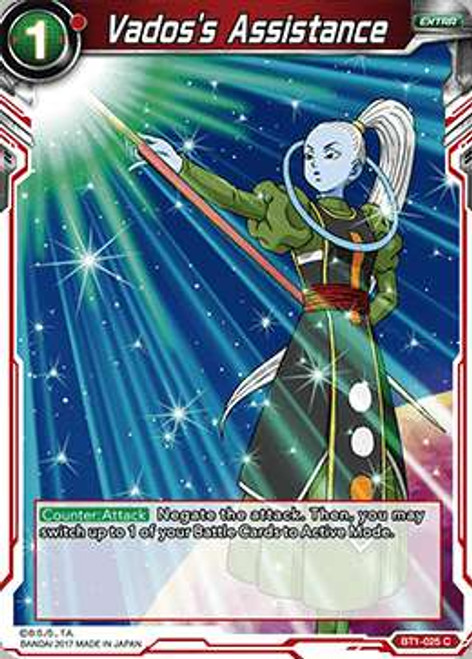 Dragon Ball Super Collectible Card Game Galactic Battle Common Vados's Assistance BT1-025