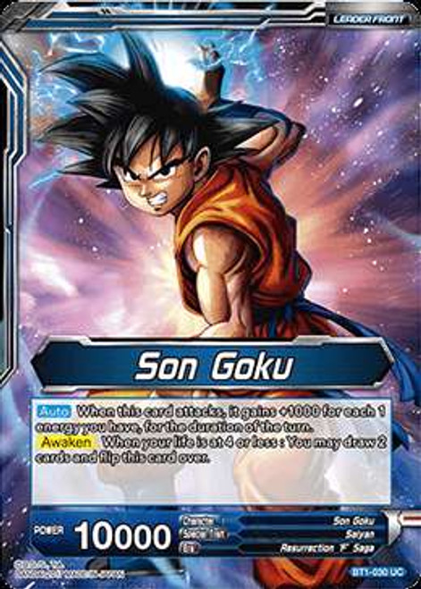 Dragon Ball Super Collectible Card Game Galactic Battle Uncommon Son Goku BT1-030