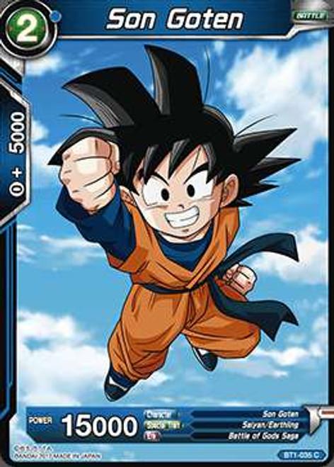 Dragon Ball Super Collectible Card Game Galactic Battle Common Son Goten BT1-035