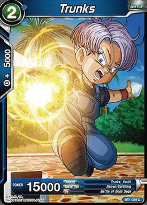 Dragon Ball Super Collectible Card Game Galactic Battle Common Trunks BT1-039
