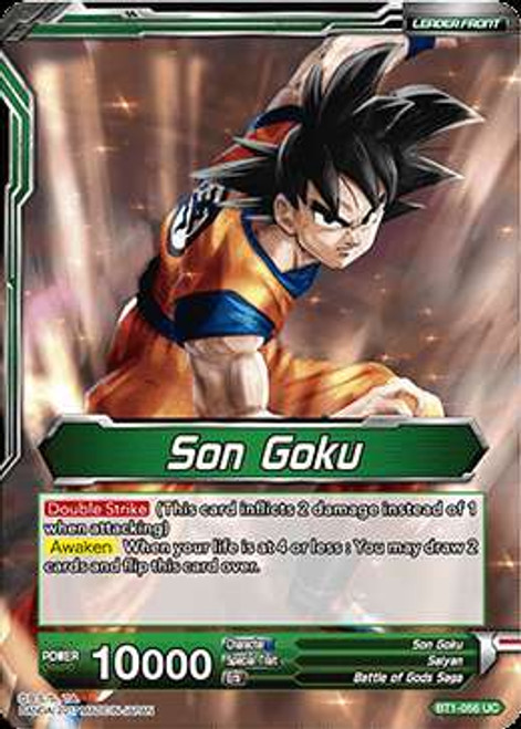 Dragon Ball Super Collectible Card Game Galactic Battle Uncommon Son Goku BT1-056