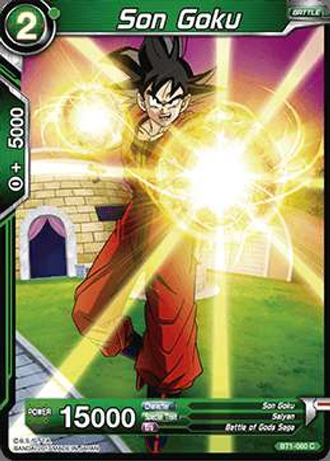 Dragon Ball Super Collectible Card Game Galactic Battle Common Son Goku BT1-060