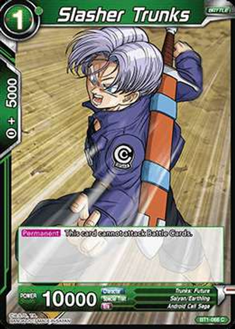 Dragon Ball Super Collectible Card Game Galactic Battle Common Slasher Trunks BT1-068
