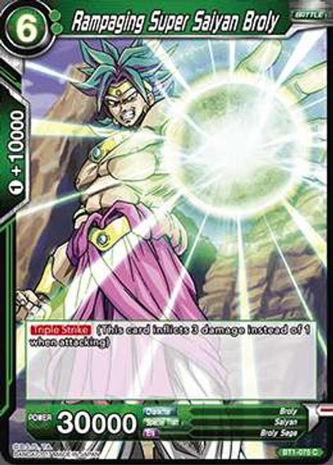 Dragon Ball Super Collectible Card Game Galactic Battle Common Rampaging Super Saiyan Broly BT1-075