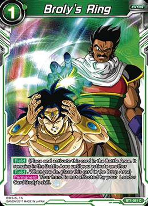 Dragon Ball Super Collectible Card Game Galactic Battle Common Broly's Ring BT1-081