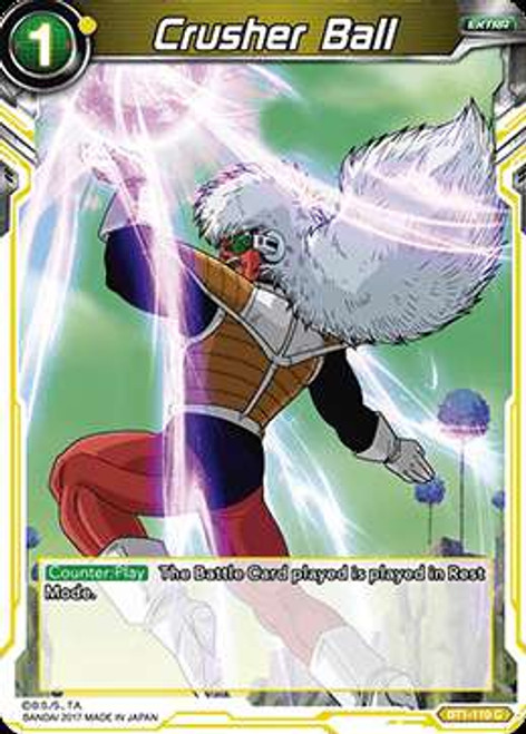 Dragon Ball Super Collectible Card Game Galactic Battle Common Crusher Ball BT1-110