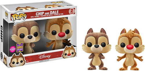 Funko Disney POP! Animation Chip & Dale Exclusive 2-Pack Vinyl Figure [Flocked]