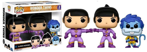 Funko DC Super Heroes POP! Heroes Wonder Twins Exclusive Vinyl Figure 3-Pack [Zan, Jayna & Gleek]