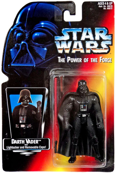 Star Wars The Empire Strikes Back Power of the Force POTF2 Darth Vader Action Figure [Long Lightsaber Variant, Damaged Package]