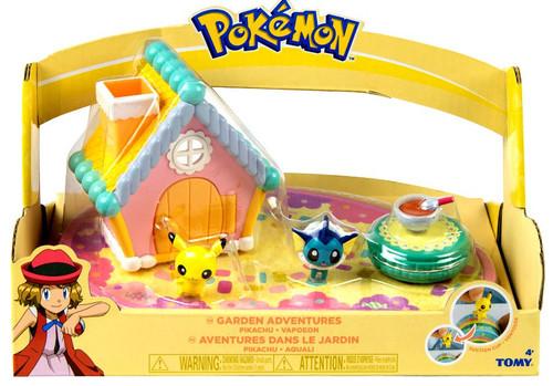 Pokemon Petite Pals Garden Adventures Pikachu & Vaporeon Playset