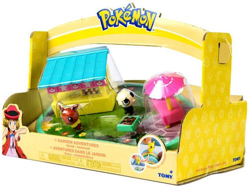 Pokemon Petite Pals Garden Adventures Eevee & Pancham Playset