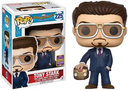 Funko Spider-Man: Homecoming POP! Marvel Tony Stark Exclusive Vinyl Bobble Head #225 [with Helmet]