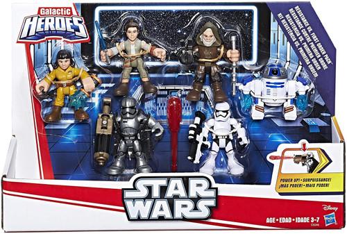 Star Wars The Force Awakens Galactic Heroes Resistance vs First Order Figure 6-Pack