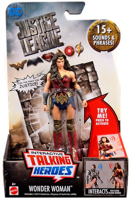 DC Justice League Movie Interactive Talking Heroes Wonder Woman Deluxe Action Figure