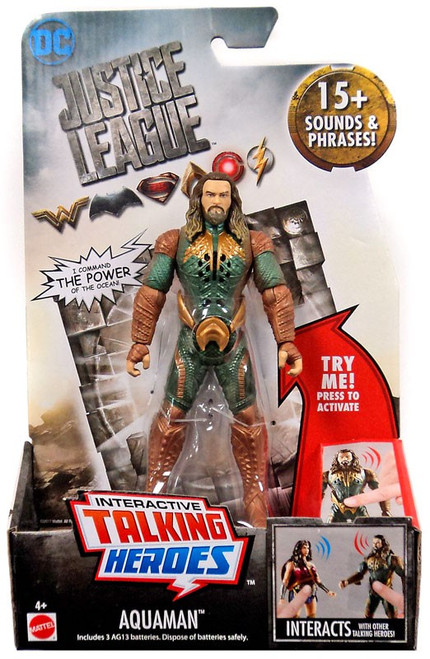 DC Justice League Movie Interactive Talking Heroes Aquaman Deluxe Action Figure