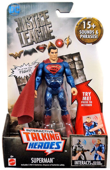 DC Justice League Movie Interactive Talking Heroes Superman Deluxe Action Figure