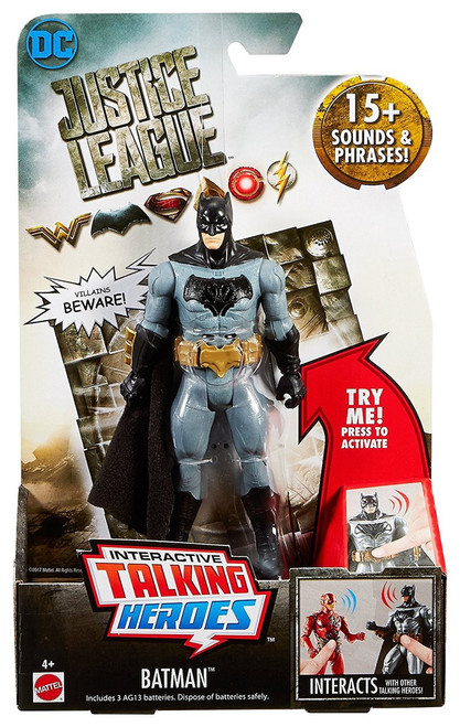 DC Justice League Movie Interactive Talking Heroes Batman Deluxe Action Figure
